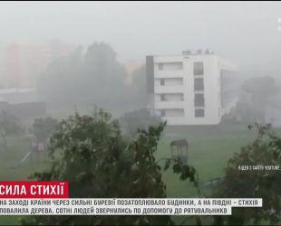 Польша страдает от мощного урагана