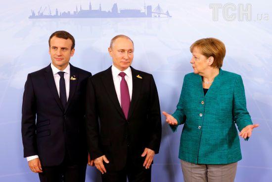 Меркель і Макрон звернулись до Путіна з вимогою підтримати резолюцію Радбезу ООН щодо Сирії