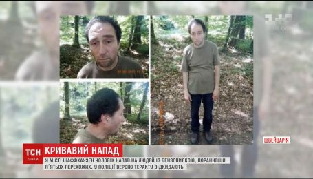 Полиция обнародовала фото мужчины, который с бензопилой напал на людей в Швейцарии
