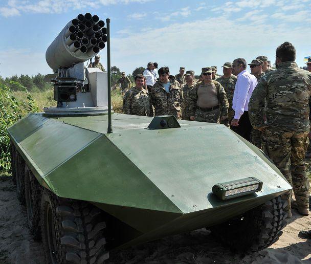 Испытания новейшей украинской военной техники