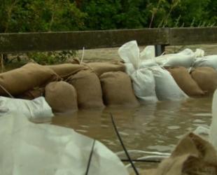 В Германии мощные ливни привели к затоплению улиц в нескольких городах