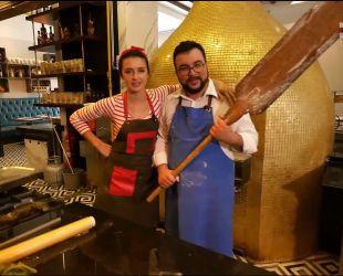 Валентина Хамайко и Руслан Сеничкин устроили соревнования по приготовлению турецкого Пиде