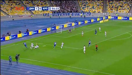 Динамо – Карпати - 2:0. Відео голу Циганкова