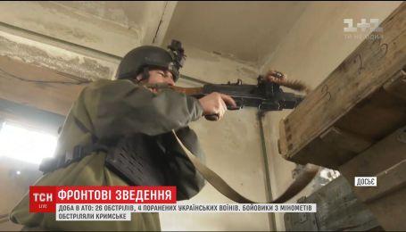 Фронтові зведення: четверо українських військових поранені на Сході