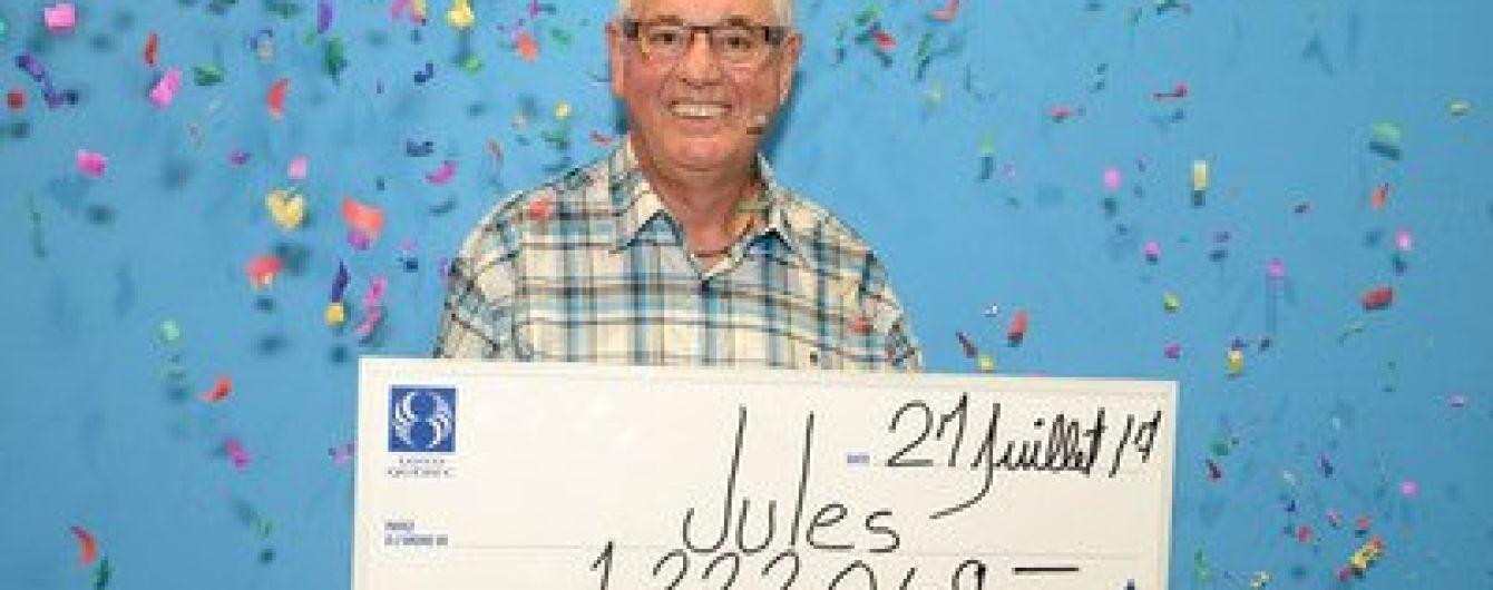 Канадец второй раз в жизни сорвал джекпот в лотерею