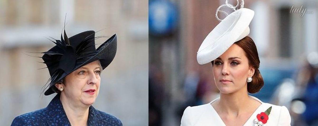 Битва шляп: герцогиня Кембриджская vs Тереза Мэй