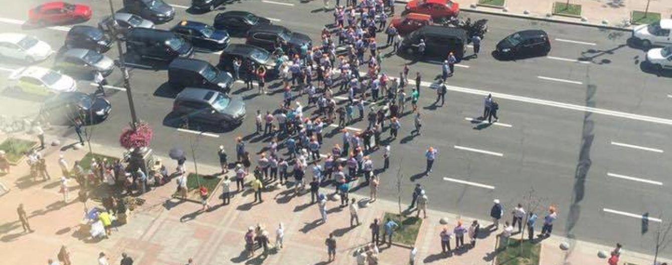 В центре Киева митингуют парковщики