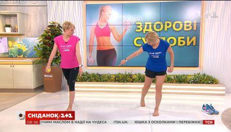 Делаем гимнастику суставов с фитнес-тренером Ксенией Литвиновой