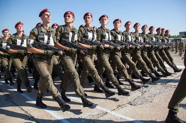Нацгвардія показала репетицію до військового параду на День Незалежності