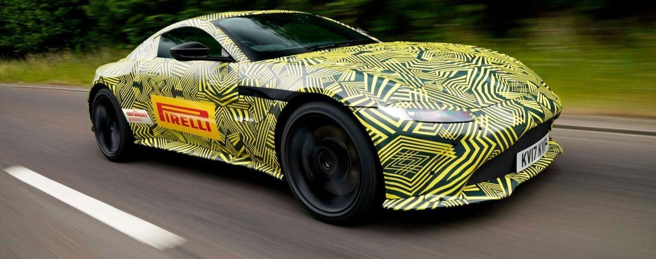 Aston Martin опубликовал фото нового купе Vantage под камуфляжем