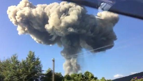 В Абхазії 35 росіян постраждали від потужних вибухів на складі боєприпасів