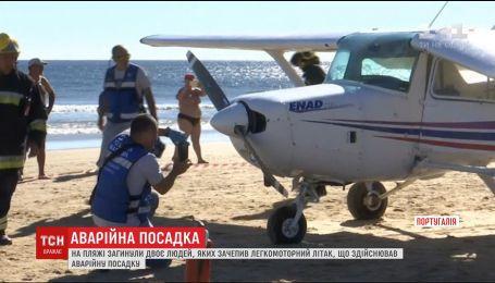 Двоє людей загинули на португальському узбережжі через аварійну посадку літака