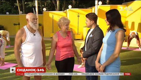 Валентина Хамайко и Александр Попов первыми посетили Киносад в киевском Гидропарке