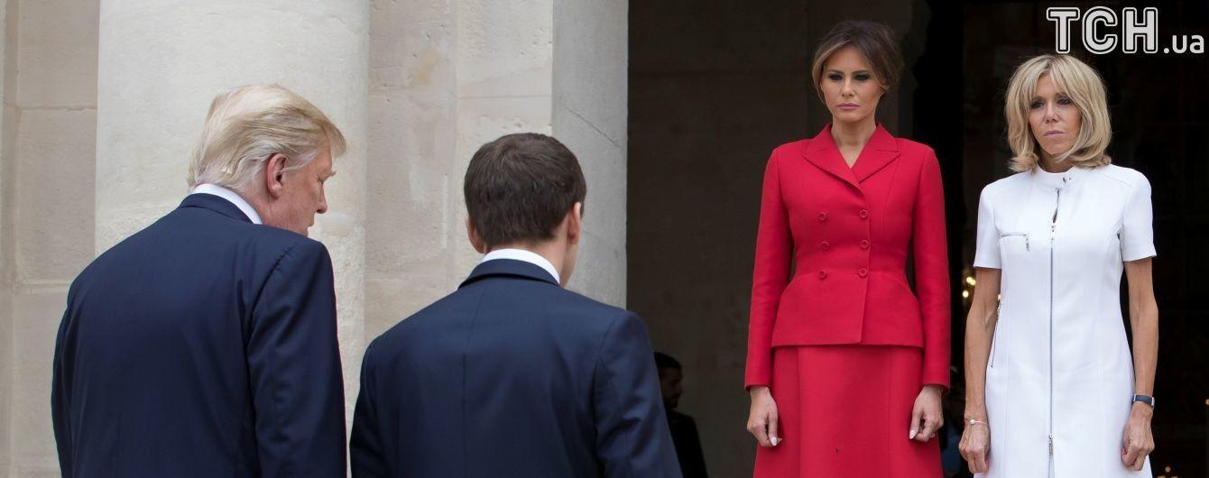 У Парижі Трамп похвалив фігуру 63-річної першої леді Франції