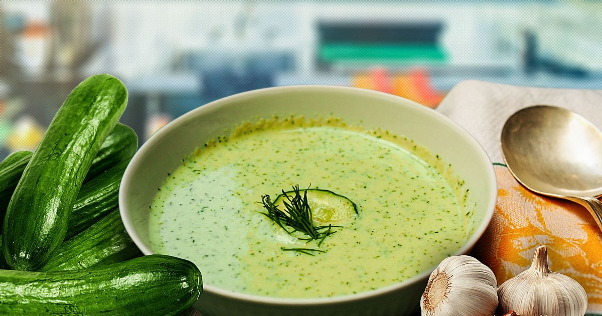 Вместо борща – холодный огуречный суп