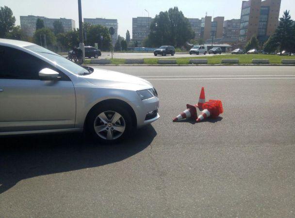 В Днепре агрессивный водитель сбил полицейского