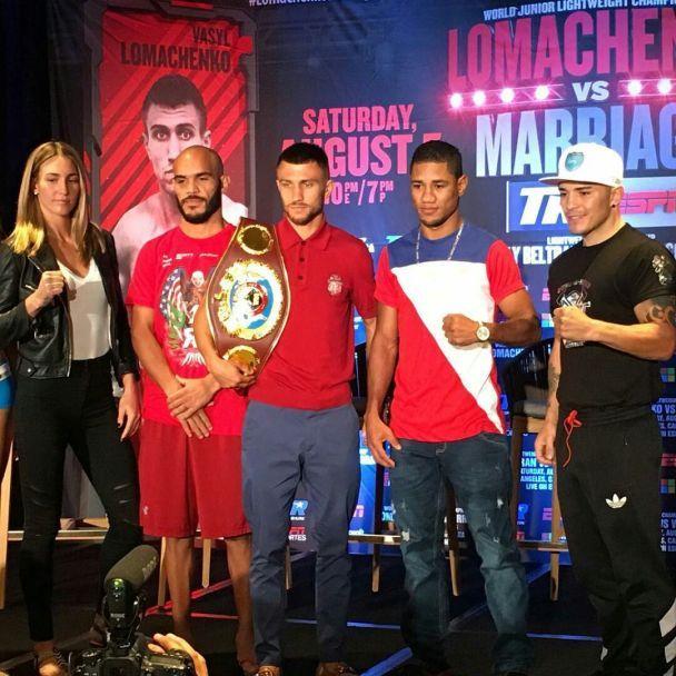 Ломаченко і Марріага провели фінальну прес-конференцію перед боєм