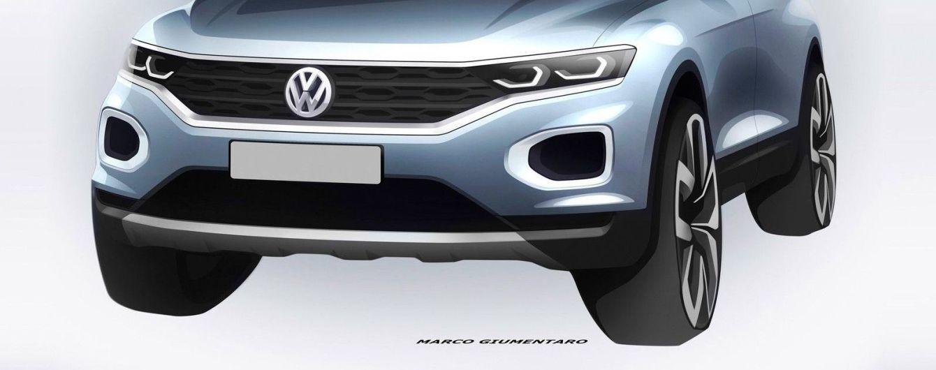 Volkswagen рассекретил дизайн компактного кроссовера T-Roc