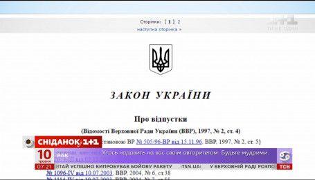 Скільки днів відпустки мають отримувати українці