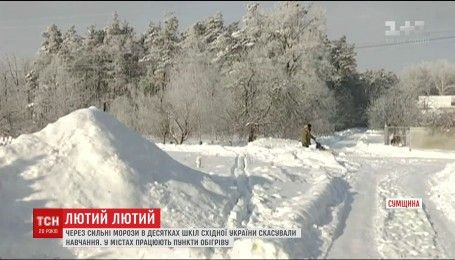 Закриття шкіл та обмороження: Харківщина та Сумщина страждає від лютого морозу