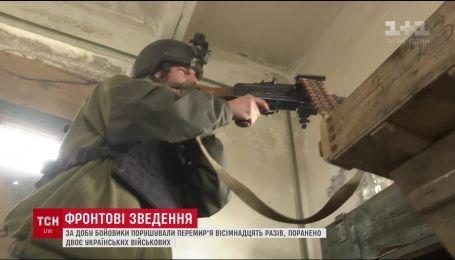 Двое украинских военных получили ранения за минувшие сутки