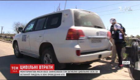 Спостерігачі ОБСЄ повідомили, скільки цивільних загинуло в зоні АТО за липень