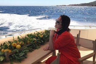 Ротару відсвяткувала ювілей із родиною на яхті