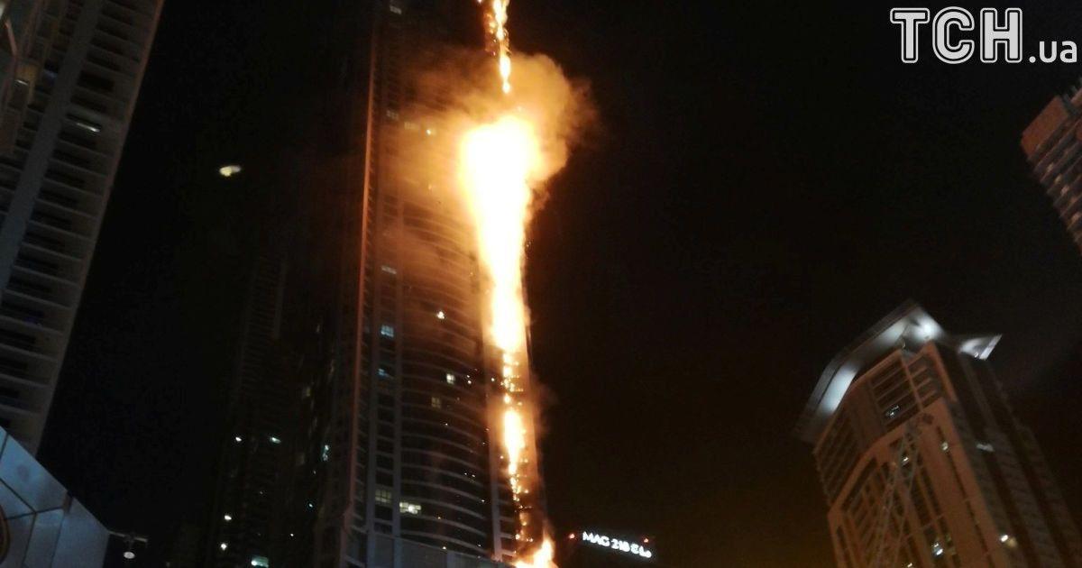 Пекельний вогонь: у 79-поверховому хмарочосі в Дубаї намагаються загасити сильну пожежу