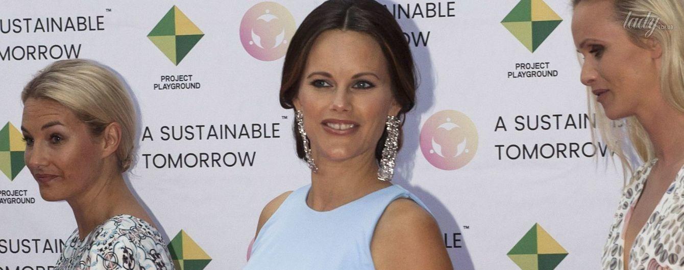 Беременность не помеха: шведская принцесса София на благотворительном приеме
