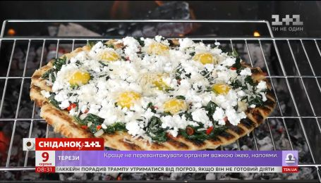 Піца-гриль із зеленню – рецепти Сенічкіна