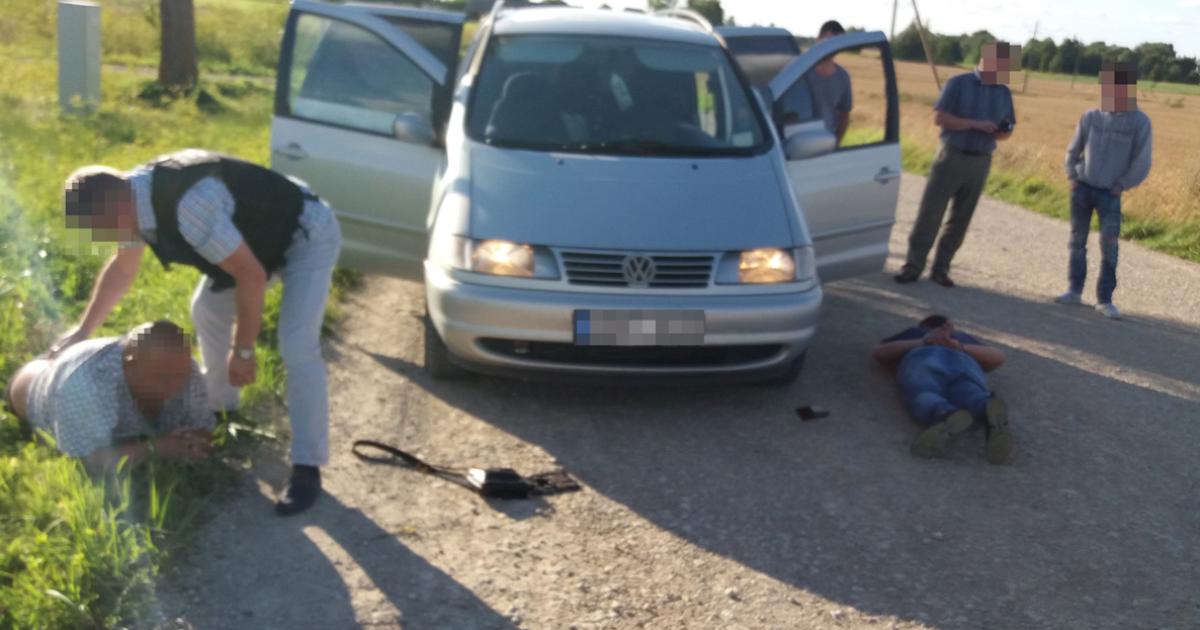 Злоумышленников задержали силовики @ Служба охраны государственной границы Литвы
