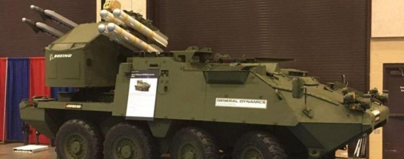 Американский бронетранспортер Stryker получил зенитный ракетный модуль