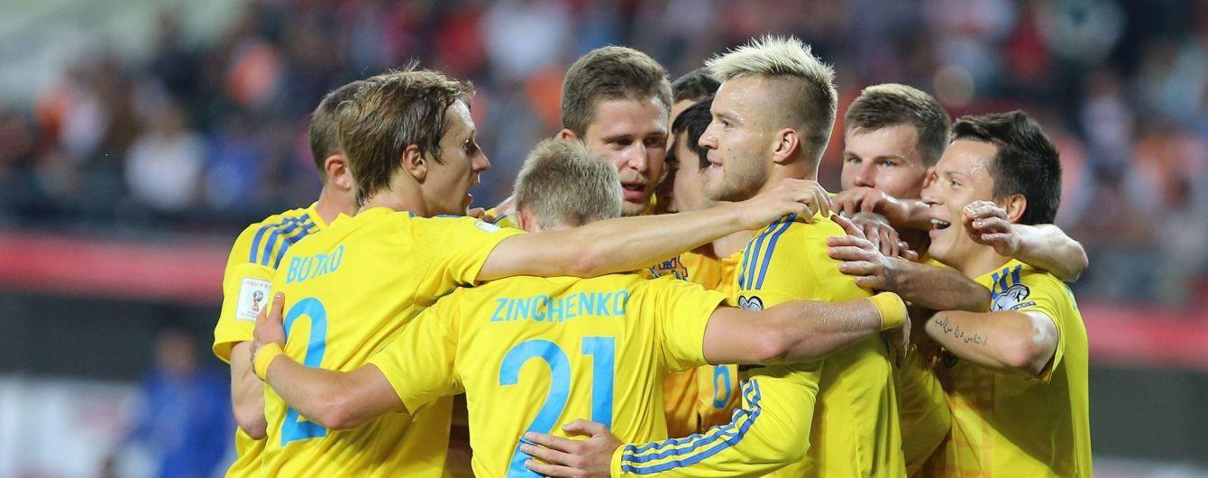 Украина потеряла позиции в рейтинге ФИФА