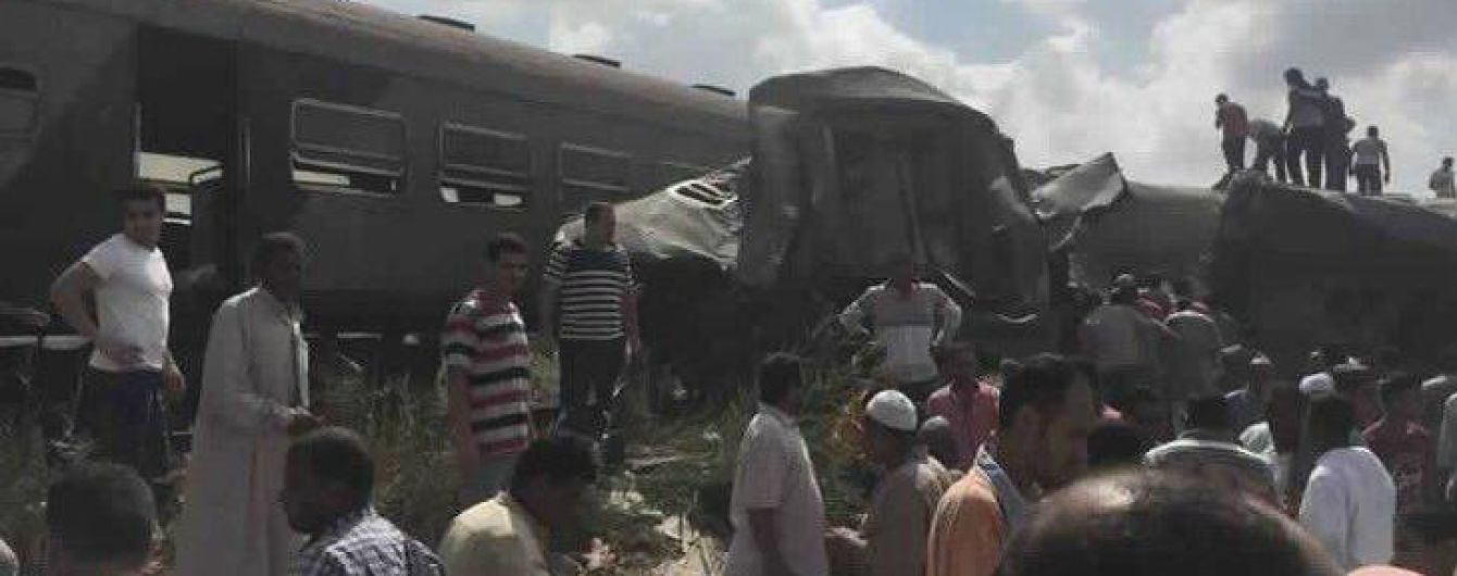 Моторошна залізнична катастрофа в Єгипті: щонайменше два десятки загиблих та півсотні поранених
