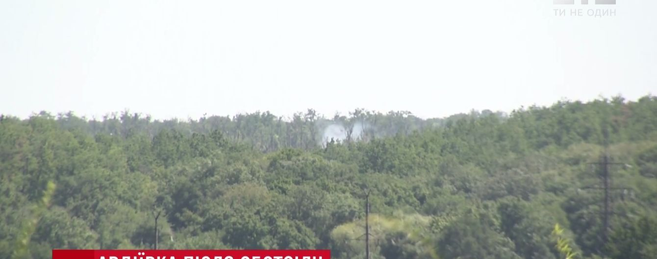 Боевики подожгли позиции ВСУ возле Авдеевки