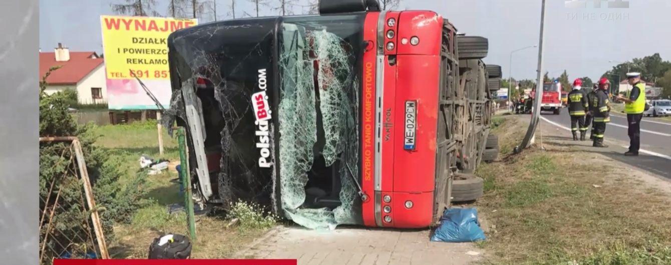 В Польше загадочно перевернулся междугородний автобус с 85 пассажирами