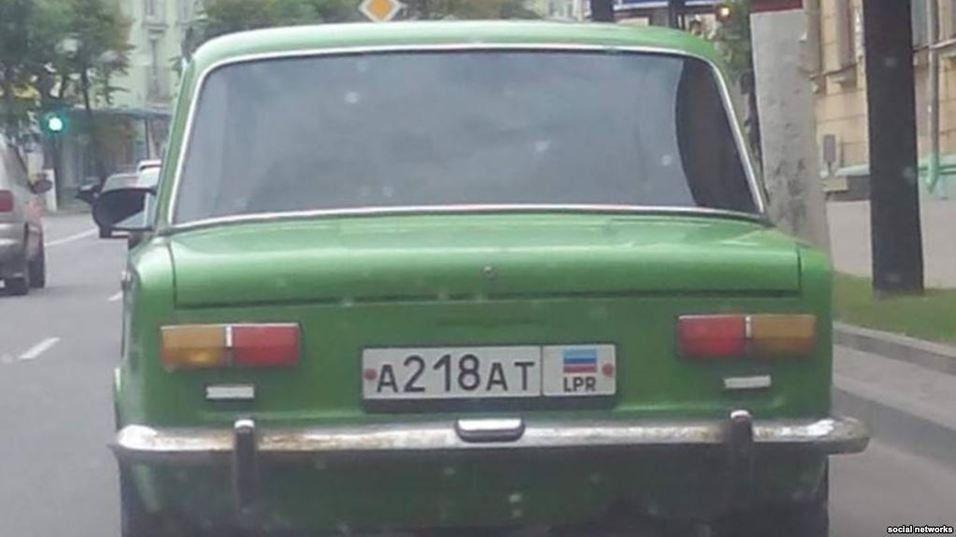 Мащина з номерами ЛНР у Білорусі