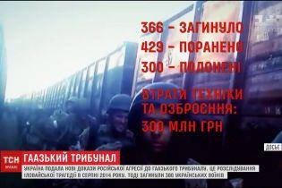 Україна подала нові докази російської агресії до Гаазького трибуналу