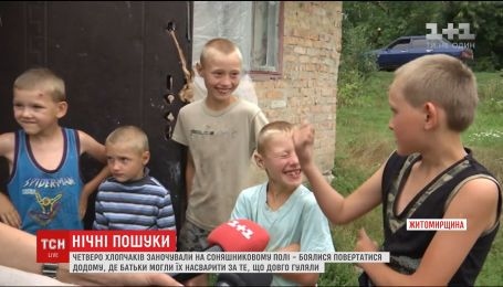Четверо малолітніх братиків ночували у полі, бо боялися повертатися додому