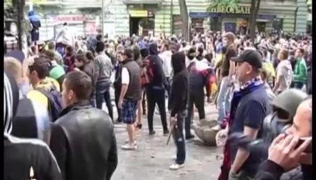 Вболівальників Чорноморця і Металіста атакували сепаратисти