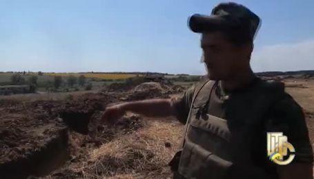 Колишні укріплення бандформувань під Золотарівкою на Луганщині