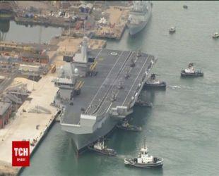 Самый мощный военный корабль Великобритании прибыл в Портсмут