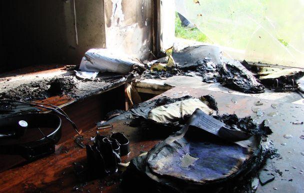 Строение КП «Киевблагоустройство» забросили коктейлями Молотова— Вспыхнул пожар
