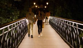 На Мосту закоханих у Києві зробили ілюмінацію