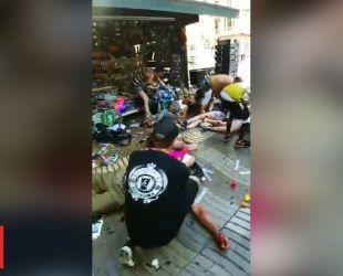 Перші хвилини після кривавого теракту в Барселоні