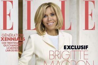 В жакете Dior и с очаровательной улыбкой: 64-летняя Брижит Макрон на обложке глянца