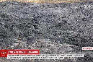 На Харківщині шестирічний хлопчик загинув під час гри з вогнем у скирті сіна