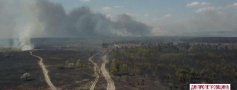 У центрі України розгорілася масштабна лісова пожежа
