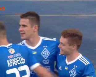 Динамо - Сталь - 1:0. Видео гола Беседина