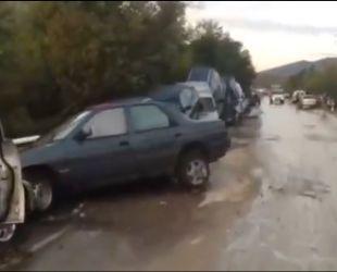 На время приезда Путина в оккупированный Крым на полуострове разгулялась стихия